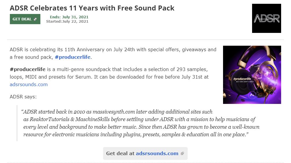 福利:ADSR免费声音包